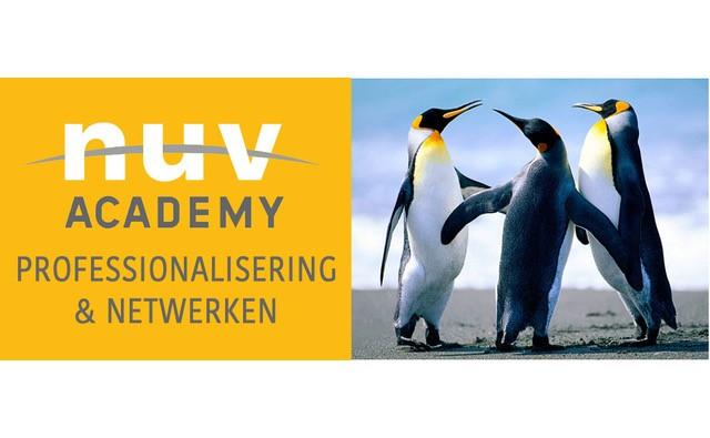 Logo NUV Academy met pinguins, nieuw